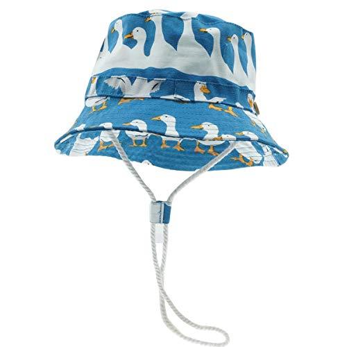Happy Cherry - Neonati Cappello da Pescatore Spiaggia Estivo Bambini Bucket Hat Anti-UV Bambino Bambine Bob Berretto con Ala Protezione Solare per Vacanza Viaggio Outdoor - 10-18 Mesi