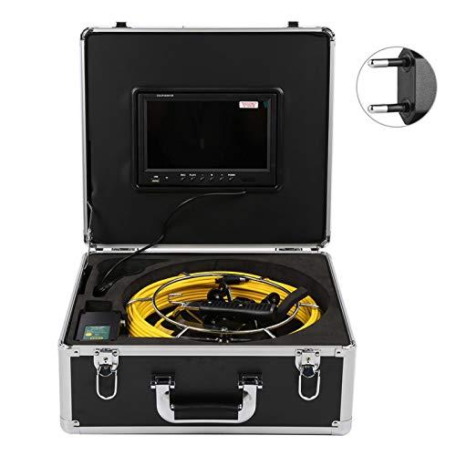 Cámara de Video DVR de Doble Lente de 9 Pulgadas 1080P 6 Luces LED 50 m Resistente al frío Recargable para(European regulations)