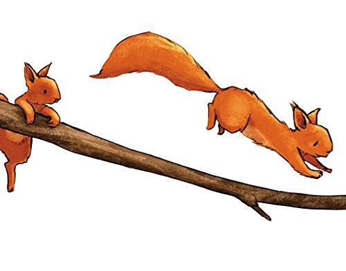 Apalis Wandtattoo Einhörnchen auf dem AST Kinderzimmer Einhörnchen Hazel Nut Familie
