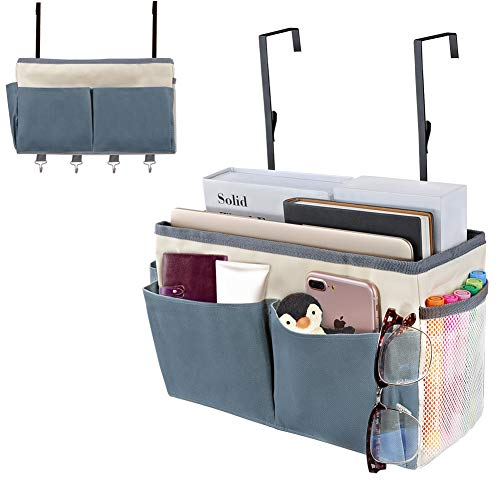 ionlyou Bedside Storage Pocket Bed Caddy Hanging Storage Organizer Multifunction Large Capacity Hanging Storage Basket Fit for Dormitory Bedroom Kitchen Office School Bunk Bed