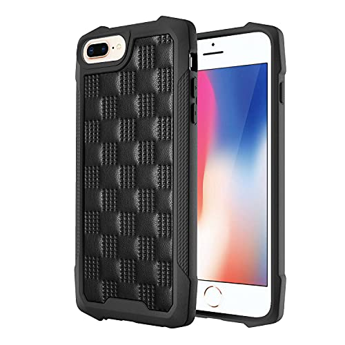 Hülle für iPhone 6 Plus/7 Plus/8 Plus 4G Handyhülle, Soft Leder PU+TPU Cover Bumper Stoßdämpfung Schutzhülle, mit Soft Leder Schutz PU+TPU Case für iPhone 6 Plus/7 Plus/8 Plus Hülle 5,5 Zoll-1
