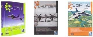 Fighter Jet Fury/Thunder/Strike 3 DVDs Pack Set Documentary History NEW-FREE SHIPPING