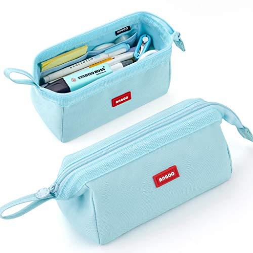 CICIMELON Pencil Case Large Capacity Pencil Pouch Pen Bag for School Teen Girl Boy Men Women (Blue)