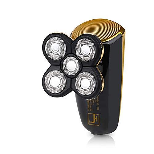 Yaobuyao Testa del Rasoio Elettrico per Pile Ricaricabili del Rasoio degli Uomini, Rasoio Barba USB con 3 Lame Rasoi Lavabile Rasatura Macchina
