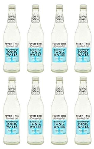 Fever Tree Refreshingly Light Mediterranean Tonic Water 500 ml (Pack of 8)