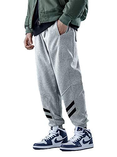 メンズ ジョガーパンツ 裏起毛 厚手 暖パン 防寒 暖かい テーパード 大きいサイズ 冬服 S~3XL (グレー930, XXXL)