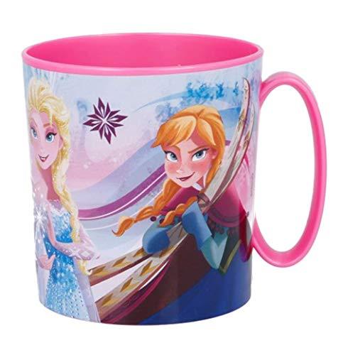 Theonoi Taza de plástico 350 ML a Elegir: Minnie – Princess – Frozen – PawPatrol/Taza con asa de plástico sin BPA Apto para microondas/Regalo para niñas