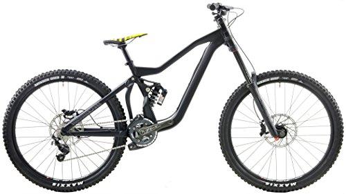 Motobecane Downhill DH Full Suspension Mountain Bike Rock Shox Boxer 200mm (Matt Black, Small - 5'2' -...