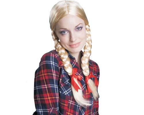 Dress Up America Perruque blonde tressée de femmes , Taille unique , Comme la Présentation
