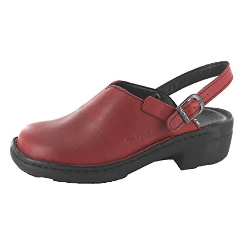 Josef Seibel Damen Pantoletten Betsy, Frauen Clogs, Slipper Slides hauschuh gartenschuh Plateau-Sohle weiblich Lady Women,Rot(Hibiscus),35 EU / 2 UK