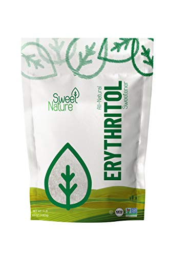 Sweet Nature Erythritol Sugar Free Sweetener All Natural Non GMO, 3LB, 48 Ounce