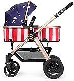 Sistema de viaje para bebés 3 en 1, cochecito de bebé portátil, sistema de viaje para todo terreno, silla de paseo compacta con construcción duradera, plegable, antigolpes, alta vista