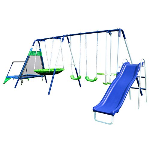 Sportspower Mountain View Metal Swing, Slide...