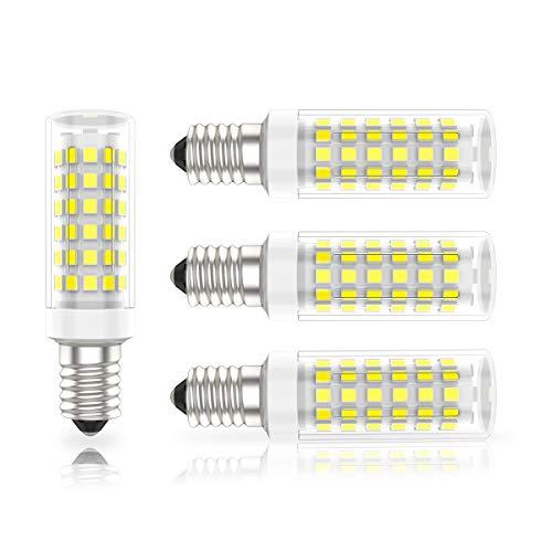 E14 Led 9W Maiskolben Lampe, Kleine Edison Schraube Kerze Leuchtmittel Mais Birne, Kaltweiß,6000K 720lm = 80Watt Energiesparlampe für Kronleuchte Wandlampe, Tischlampe(4er-Pack)