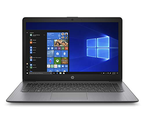 HP - PC 14-ds0014nl Stream Notebook, AMD A4-9120e, RAM 4 GB, eMMC 64 GB, Windows 10 Home S, Schermo 14  HD SVA Antiriflesso, Office 365 Incluso 1 Anno, USB, HDMI, RJ45, Webcam, Nero