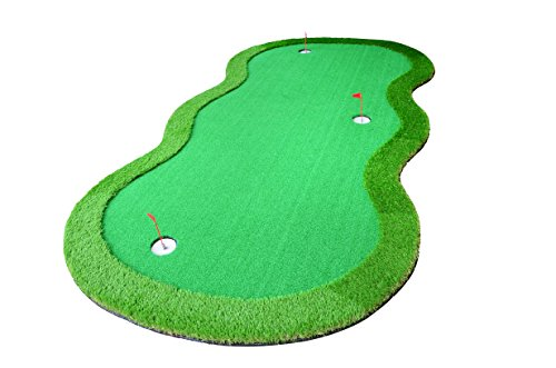 77tech Large Artificial Grass Golf Putting Green Mat Indoor/Outdoor Golf Training Aid Equipment Mat (4x10ft)