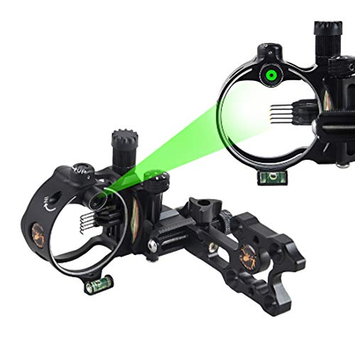 SHARROW Compound Bow Sight 5 Pin /7 Pin Bow Sights Micro Adjustable with...