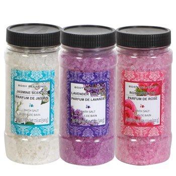 Scented Bath Salt, 17.6-oz. Jars, 3 pack