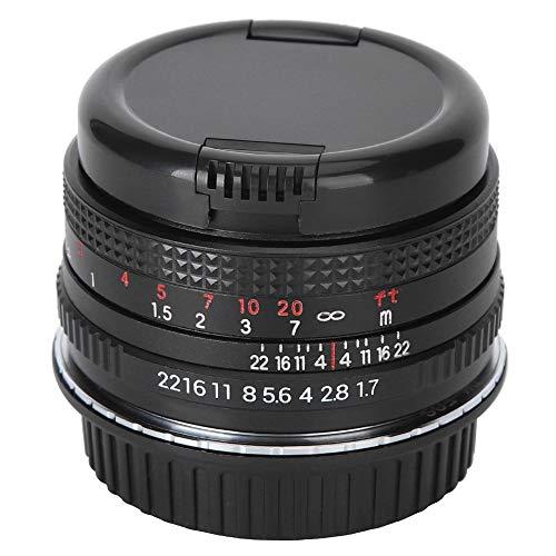 Lente de enfoque manual de retrato de fotograma completo Prime de 50 mm F1.7 con montura MD, película antirreflectante multicapa/lente de objetivo grande, lente de cámara para cámara SLR de Minolta
