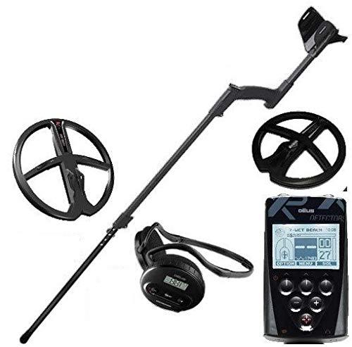 XP Metal Detectors–Detector de metales Deus Full 2discos–tecnología inalámbrica–Mando a distancia–Casco WS4–Discos DD de 22y 28cm con protector–Palo telescópico en S