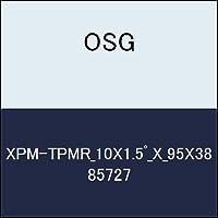 OSG テーパエンドミル XPM-TPMR_10X1.5゚_X_95X38 商品番号 85727