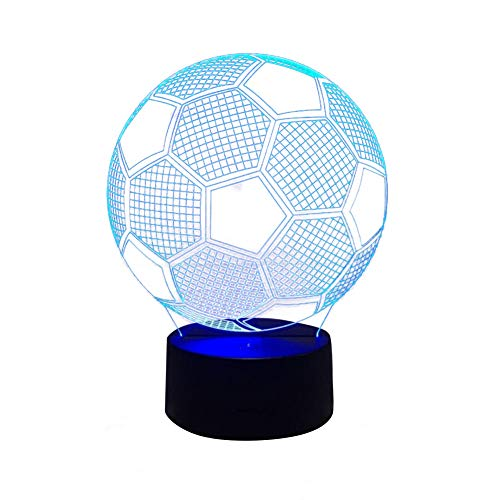 Arisesun 3D Visual Fútbol de la Noche de la Lámpara USB LED con Sensor Táctil de Fútbol Forma de Luz de Noche Regalo