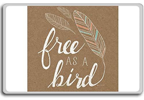 Vrij als vogel - Motivationele Citaten Koelkast Magneet
