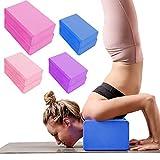 Yoga Blocks 2 Pack, High Density EVA Foam Brick Soft Yoga Block to Support and Deepen Poses, Yoga, Pilates, Meditation, Aid Balance, Moisture-Proof(Gray)