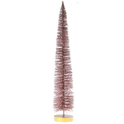 MACOSA CE30672 Deko Tannenbaum Altrosa glitzernd 40 cm Weihnachtsdeko Draht-Christbaum Drahtbaum Weihnachtsbaum Dekoration Weihnachten Adventsdeko
