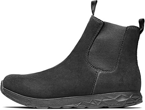 Icebug Outdoor Chelsea Boots for Men: Wander Michelin WIC Mens Fleece Lined Oiled Leather Boot - Traction Rubber Sole, Black, 8