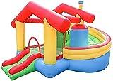 ZGYZ Castillo Hinchable Inflable Castillo Hinchable y tobogán Castillo pequeño Parque de Atracciones para niños Interior y Exterior para jardín Trasero, toboganes de Agua para jardín