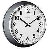 Acctim Reloj de pared de cuarzo Kensworth 22697 - Aston Gris