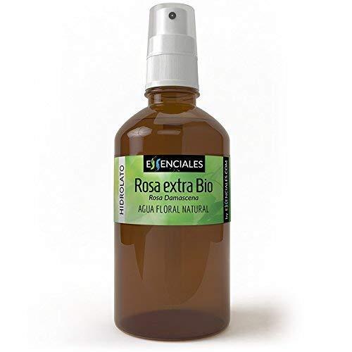 Essenciales - Hidrolato de Agua Floral de Rosa Extra BIO, 100% Pura con Certificado ECOLÓGICO, 500 ml | Hidrolato Rosa Damascena BIO