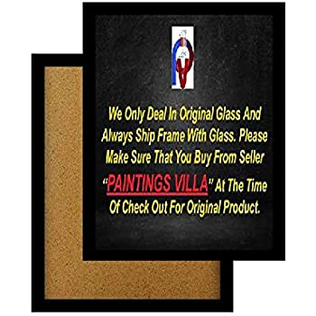 Paintings Villa A4 Size Synthetic Wood and Glass Photo Frame (Matt Black, 12X8 Inch) Set of 2