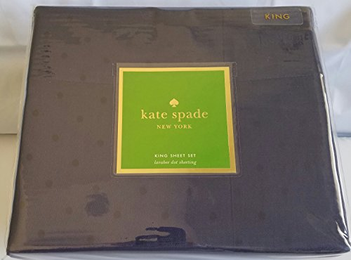 Kate Spade Larabee Dot KING Sheet Set (Navy)