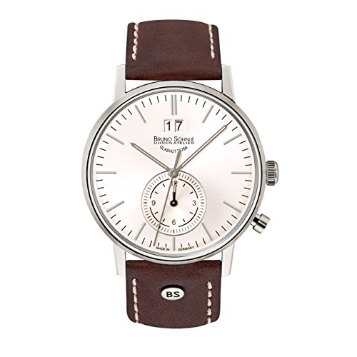 Bruno Söhnle Herren Analog Quarz Uhr mit Leder Armband 17-13180-247