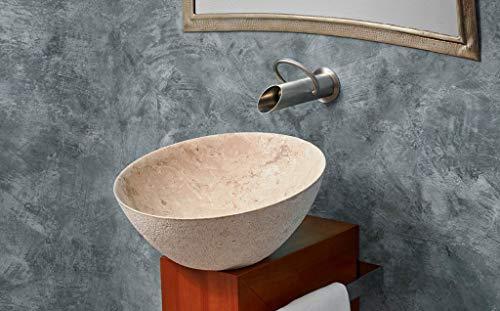 Wastafel met bedlaken van steen, beige, afmetingen: 420 x 200 cm