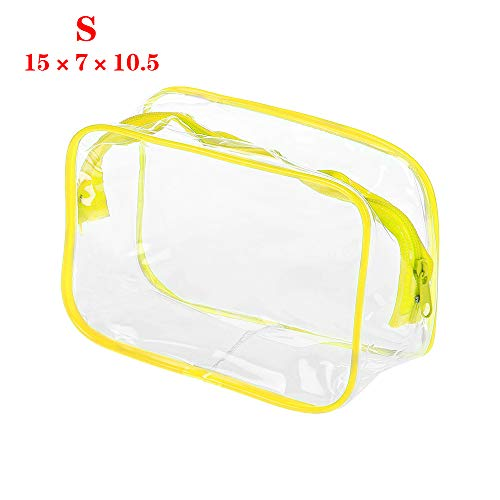 Lemon-Land Camping Rits Transparante Bad Wash Case Travel Organizer Cosmetische Pouch Make-up Tassen Handtassen S Geel