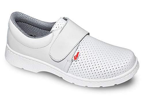 1805-LM Blanco Talla 46, Zapato de Trabajo Unisex Certificado CE EN ISO 20347 Marca DIAN