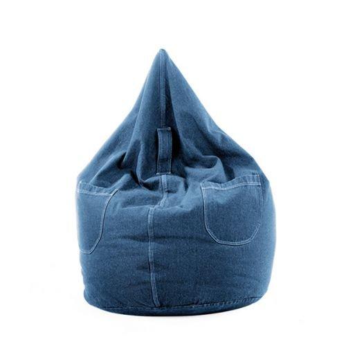Sitzsack Jeans Farbe Blue Jeans, Größe 220 Liter 58 x 110 cm