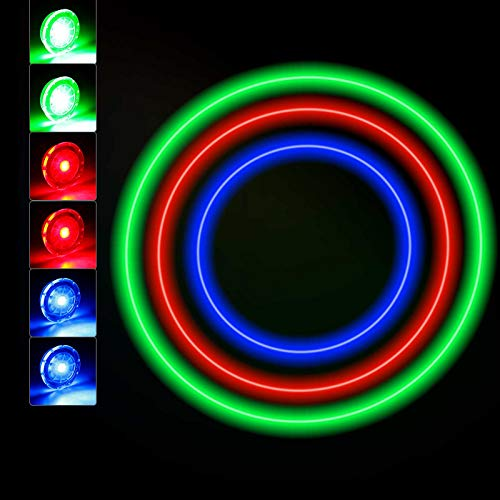 Luces de Rueda de Bicicleta Luces de Radios Ciclismo LED Impermeable Luces Rueda Colores Luz Radio Llanta 3 Colores con Baterias Incluidas (12 Piezas)
