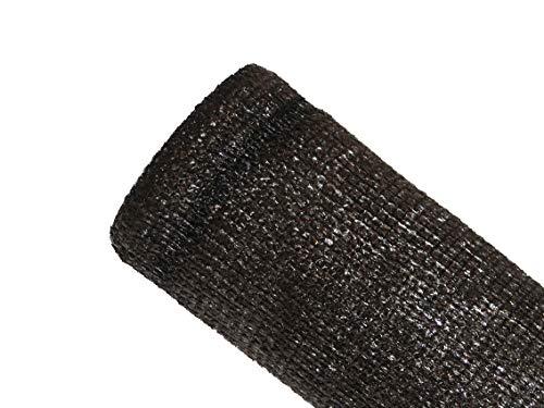 MAILLESTORE Brise-Vue 80% Marron/Noir - 95gr/m² - sans boutonnières Marron/Noir 1.5m x 10m