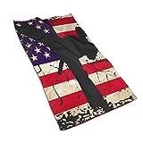 Toalla de Microfibra de Bandera Americana Karate Arts Toallas de Secado rápido Toalla Deportiva 27.5 * 15.7In