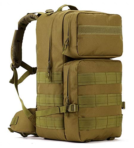 Phoenix Ikki 55L 大容量 選べる4色 迷彩 防水加工 軍事ファン向け 戦術 アルパインパック アウトドア リュックサック ミリタリー バックパック ブラウン