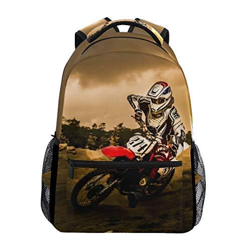 Lightweight Dirt-Bike Motocross Motorcycle Vehicle Backpacks Women Bags Men Bookbag