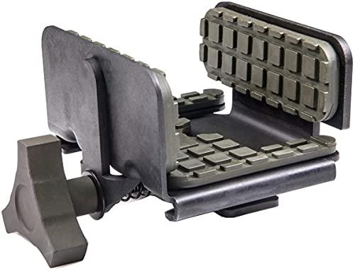 dgfweg Construcción ligera y abrazadera universal para caza, tiro y exteriores, negro/verde OD (negro)