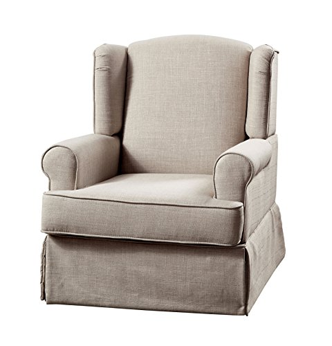 HOMES: Inside + Out Imogen Transitional 360 Glider and Rocker Chair, Beige
