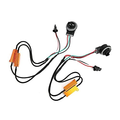 NERR YULUBAIHUO 2 unids 3157B LED 50W 8OHM Resistencia de Carga Error de cableado Libre decodificador de Freno de automóvil Accesorios para automóviles