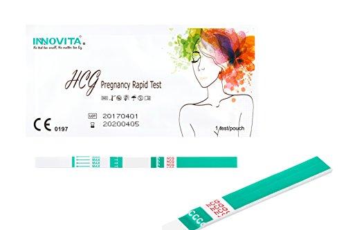 Innovita 20x Schwangerschaftstest mit hoher 10mlU/ml (3mm) Hcg-Sensibilität I Pregnancy Test zur frühen Erkennung der Schwangerschaft I Frühtest