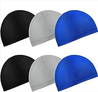 Mumoo Bear 6 Pieces Helmet Liner Skull Caps Sweat Wicking Cap Running Hats Cycling Skull Caps for Men and Women